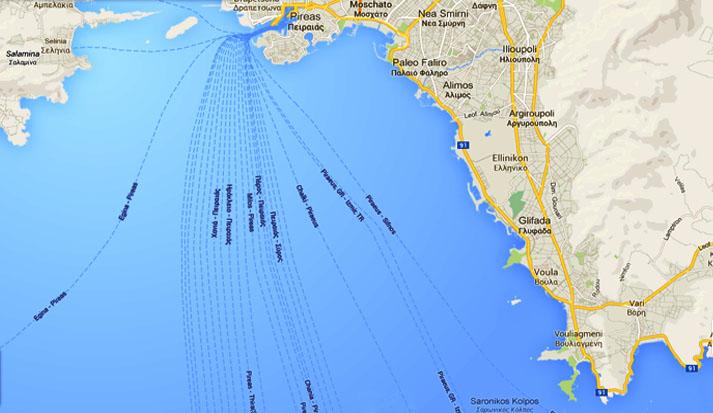 Atina, Grčka, Mapa obale