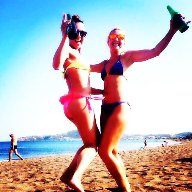 Žurka na plaži na Rodosu