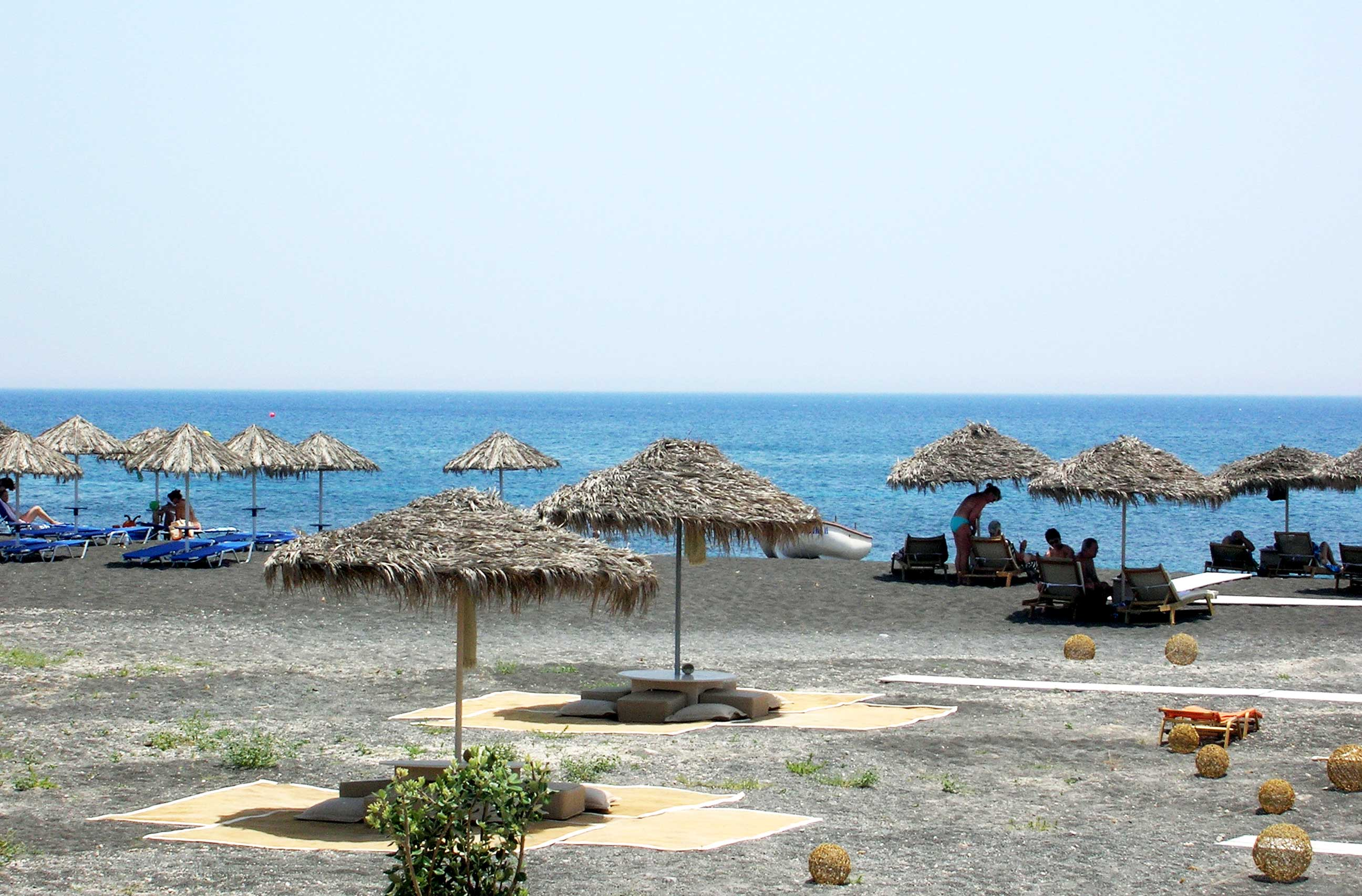 Santorin plaža, grčka ostrva